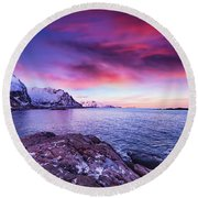 Away From Today Round Beach Towel