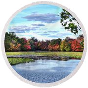 Awesome Autumn Round Beach Towel