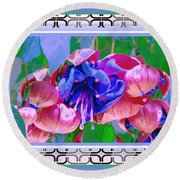 Awesome Blooms Round Beach Towel by Shirley Moravec