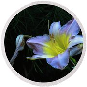 Round Beach Towel featuring the photograph Awesome Daylily by Tom Singleton