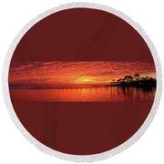Awesome Santa Rosa Sunset Colors Panoramic Round Beach Towel