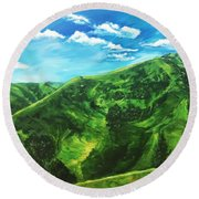 Awesome Serenity Round Beach Towel by Belinda Low