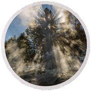 Awestruck Round Beach Towel