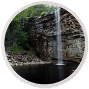 Awosting Falls In Spring #3 Round Beach Towel