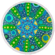 Ayahuasca Vision - Inside The Plant Cell  May 2015 Round Beach Towel