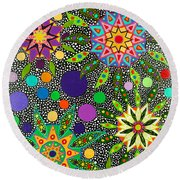 Ayahuasca Vision May 2015 Round Beach Towel