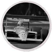 Ayrton Senna. 1988 Italian Grand Prix Round Beach Towel