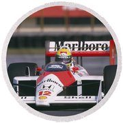 Ayrton Senna. 1988 Mexican Grand Prix Round Beach Towel