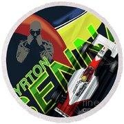 Ayrton Senna Round Beach Towel by Sassan Filsoof