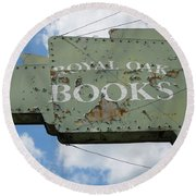 A Sign Of The Times Round Beach Towel by Sandra Church