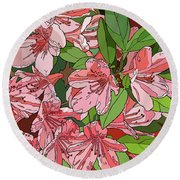 Azalea Bunch Round Beach Towel