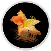 Azalea Ripples Round Beach Towel