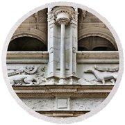 Azay-le-rideau - Architectural Detail - French Chateau Round Beach Towel