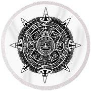 Aztecs Calendar Round Beach Towel