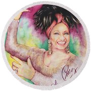 Azucar Celia Cruz Round Beach Towel