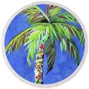 Azul Palm Round Beach Towel