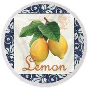 Azure Lemon 1 Round Beach Towel