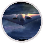 B-2 Spirit No. 1 Round Beach Towel