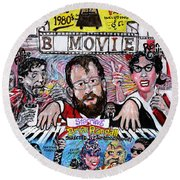 B Movie Round Beach Towel