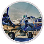 B17 Flying Fortress Sentimental Journey Round Beach Towel