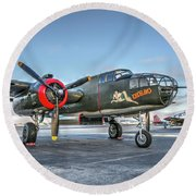 B25 Mitchell At Livermore Round Beach Towel