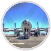 B29 Superfortress At Modesto Round Beach Towel