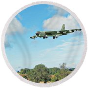 Round Beach Towel featuring the digital art B52 Stratofortress -2 by Paul Gulliver