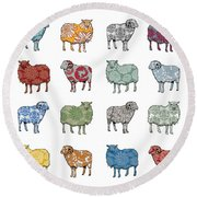 Baa Humbug Round Beach Towel by Sarah Hough