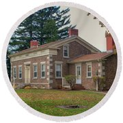 Round Beach Towel featuring the photograph Babcock House Autumn 13937 by Guy Whiteley
