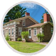 Round Beach Towel featuring the photograph Babcock House Museum 2250 by Guy Whiteley