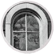 Round Beach Towel featuring the photograph Babcock Window 2273 by Guy Whiteley
