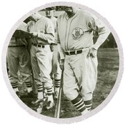 Babe Ruth All Stars Round Beach Towel