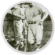 Babe Ruth All Stars Round Beach Towel by Jon Neidert