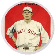 Babe Ruth Cracker Jack Card Round Beach Towel
