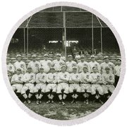 Babe Ruth Providence Grays Team Photo Round Beach Towel