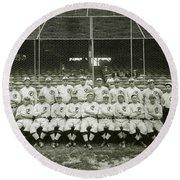 Babe Ruth Providence Grays Team Photo Round Beach Towel by Jon Neidert
