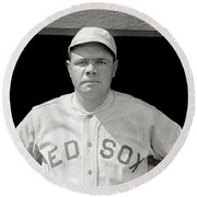 Babe Ruth Red Sox Round Beach Towel