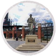 Round Beach Towel featuring the photograph Babes Dream - Camden Yards Baltimore by Bill Cannon