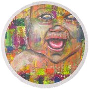 Baby - 1 Round Beach Towel by Jacqueline Athmann
