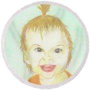 Baby Cupcake Round Beach Towel