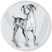 Baby Dane Round Beach Towel
