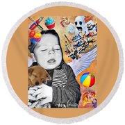 Baby Dreams Round Beach Towel by Vennie Kocsis