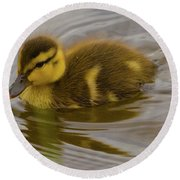 Baby Duck Round Beach Towel