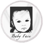 Baby Face Round Beach Towel