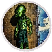 Round Beach Towel featuring the photograph Baby Hulk by Chris Lord