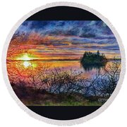 Baby Island Glory Round Beach Towel