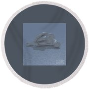 Baby Its Cold Outside Round Beach Towel