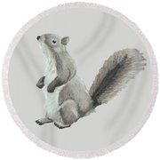 Baby Squirrel Round Beach Towel
