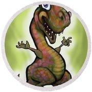 Babysaurus Rex Round Beach Towel