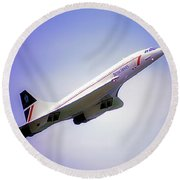 Bac Concorde  Round Beach Towel